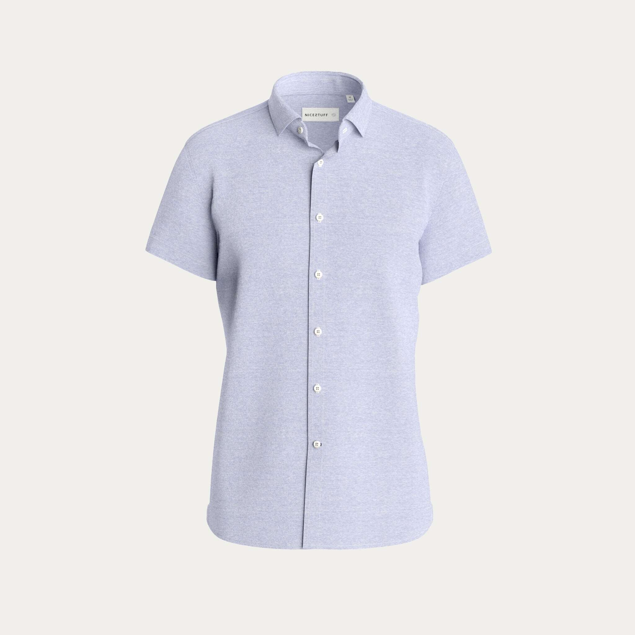 Short Sleeve Ligh Blue Shirt On Father's Day