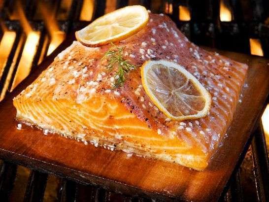 Lemon pepper cedar plan salmon